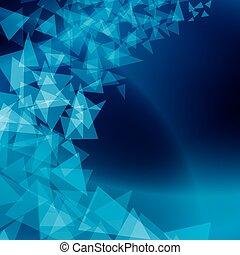 bleu, résumé, dispersé, formes, vecteur, fond
