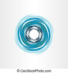 bleu, résumé, eau, vortex, fond, icône