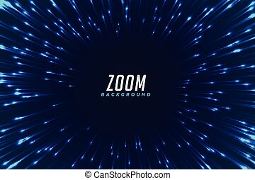 bleu, résumé, effet, zoom, incandescent, fond