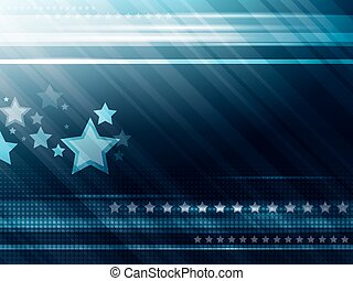 bleu, résumé, fond, étoiles