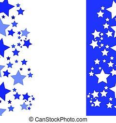 bleu, résumé, -, fond, étoiles
