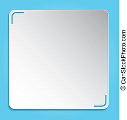 bleu, résumé, fond, blanc, rectangle, 3d