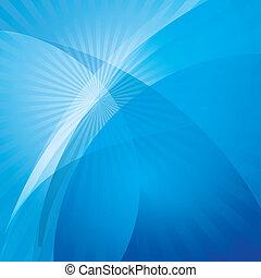 bleu, résumé, fond, vague