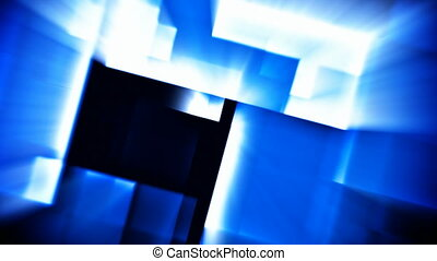 bleu, résumé, futuriste, fond