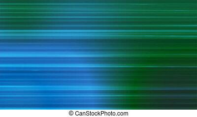 bleu, résumé, high-tech, émission, lignes, 4k, loopable, vert, horizontal