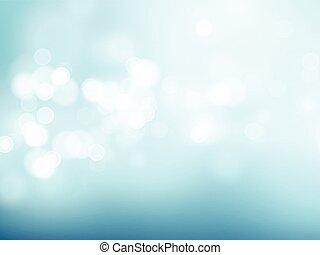 bleu, résumé, illustration, arrière-plan., bokeh, vecteur, circulaire
