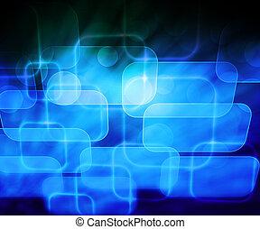 bleu, résumé, informatique, fond