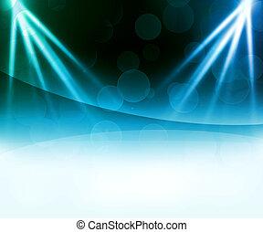 bleu, résumé, laser, fond