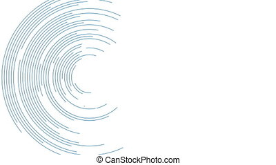 bleu, résumé, lignes, animation, vidéo, futuriste, circulaire
