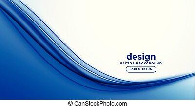 bleu, résumé, lisser, vague, conception, bannière