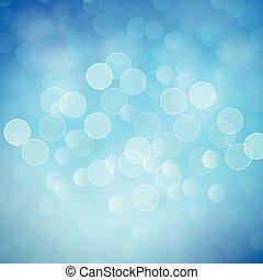 bleu, résumé, lumières, bokeh, vecteur, fond
