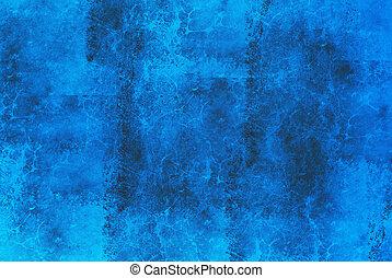 bleu, résumé, marbre, fond