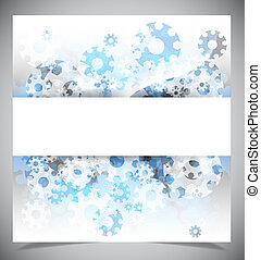 bleu, résumé, moderne, fond blanc
