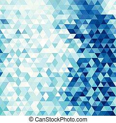 bleu, résumé, moderne, triangles, fond