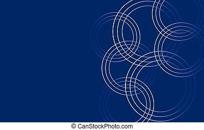 bleu, résumé, néon, incandescent, circles., fond, futuriste