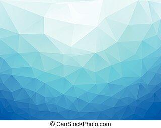 bleu, résumé, poly, fond