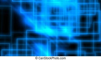 bleu, résumé, rectangles