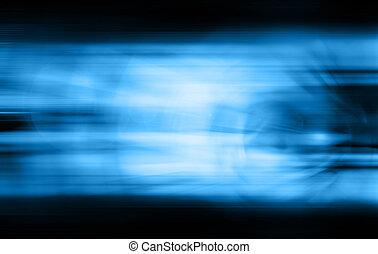 bleu, résumé, tonalité, blured, fond