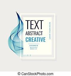 bleu, résumé, vague, conception, créatif, bannière