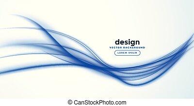 bleu, résumé, vague, conception, ligne, bannière