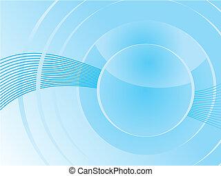 bleu, résumé, vecteur, basé, fond
