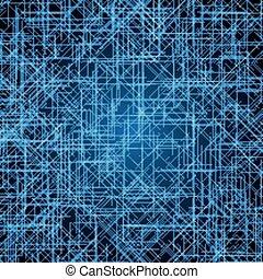 bleu, résumé, vecteur, futuriste, fond