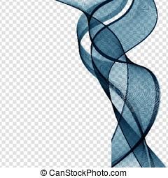 bleu, résumé, vecteur, illustration., vague