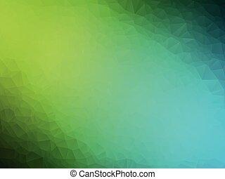 bleu, résumé, vert, géométrique, fond
