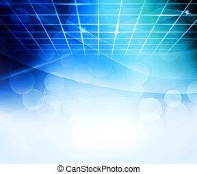 bleu, résumé, virtuel, fond
