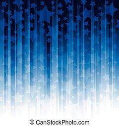 bleu, raies verticales, étoiles