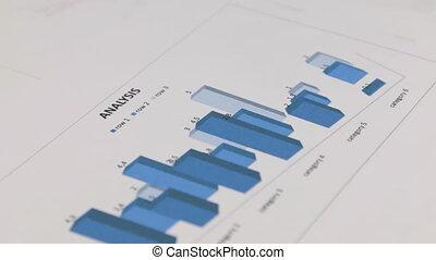 bleu, rassemblement, concept, image, diagram., close-up., rotation, données