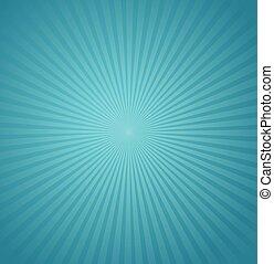 bleu, rayons, éclater, illustration, arrière-plan., vecteur