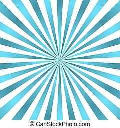 bleu, rayons, concentration étoile, affiche, blanc