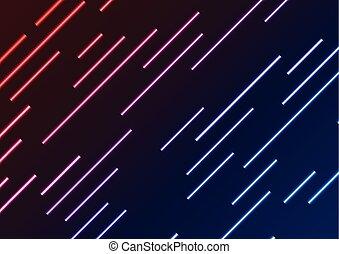 bleu, rayons, laser, résumé, néon, fond, rouges