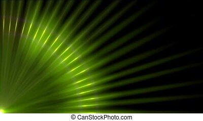 bleu, rayons, lumière, modèle, vert, abstrac
