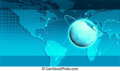 bleu, rayons, mondiale, lumière
