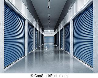 bleu, rendre, stockage, doors.3d, installations