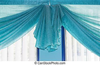 bleu rideaux style th tre blanc image de stock recherchez photos et clipart csp1132116. Black Bedroom Furniture Sets. Home Design Ideas