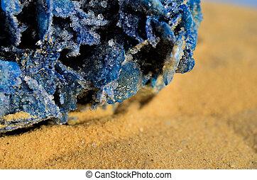 bleu, rose, 3, désert