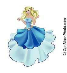 bleu, rose, princesse