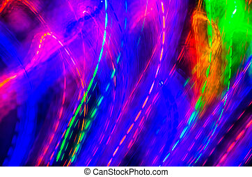 bleu, rose, purple., coloré, résumé, lignes, courbes, arrière-plan vert, rouges