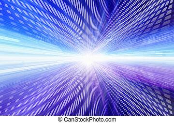 bleu, rose, rangées, rectangles, lumière, incandescent, clair, composition, centre
