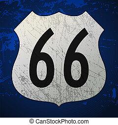 bleu, routez-en 66, signe