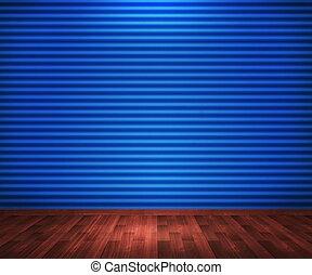 bleu, salle, fond