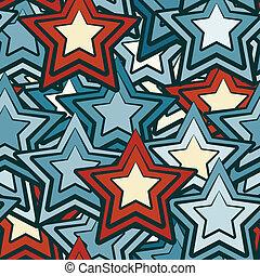 bleu, seamless, étoiles