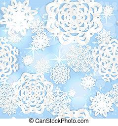 bleu, seamless, christmass, fond