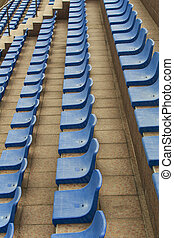 bleu, sièges stade
