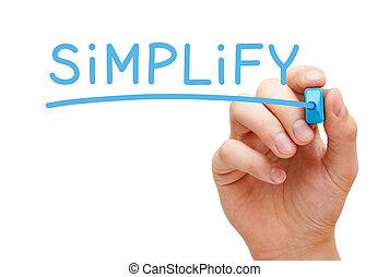 bleu, simplifier, marqueur