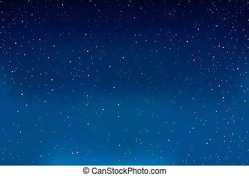bleu, sky., arrière-plan., vecteur, étoiles, nuit