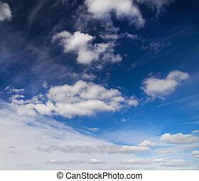 bleu, sky.